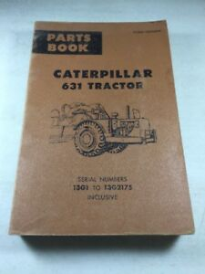 Caterpillar 631 Tractor Parts Book