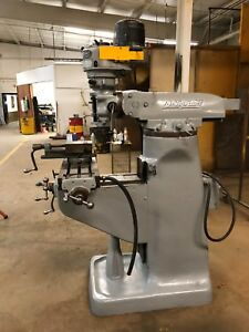 Bridgeport Milling Machine W 1hp Vice And Table 9 x36