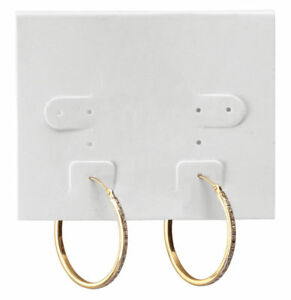 Hanging White Plastic Earring Cards 1 000 2 1 2 X 2 J Channel Hang Display