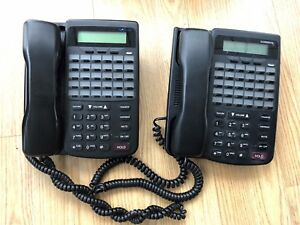Lot Of 2 Used Comdial Dx80 Dx 80 7260 00 Hac Black Lcd Office Phone Tested