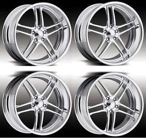 17 Polished Sport Pro Wheels Boost Rims Forged Staggered 2 Piece Billet Intro Us