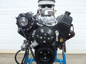 Chevy 383 Turn Key Roller Stroker Engine Black Thunder Series Crate Motor