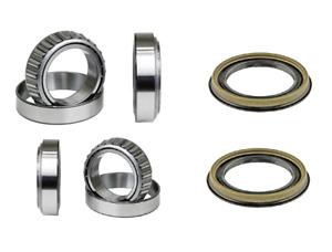 Front Wheel Bearing 2 Inner 2 Outer W seal Set For Nissan Xterra 2000 2004