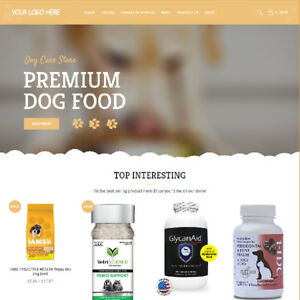 Dog Care Affiliate Online Business Website For Sale Mobile Friendly Added