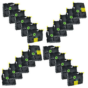 20pk Replacement For Brother Tz Tze 631 Tape Black On Yellow P touch Label Maker