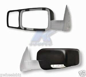 2015 2016 2017 2018 Dodge Ram 2500 Clip Snap on Tow Side Mirror Extension pair