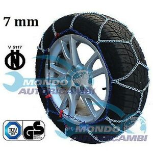Snow Chains 7mm 215 55 R17 Compatible With Nissan Juke F15 01 2010