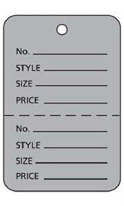 2000 Perforated Tags Price Sale Large 1 W X 2 H Two Part Gray Coupon Tag