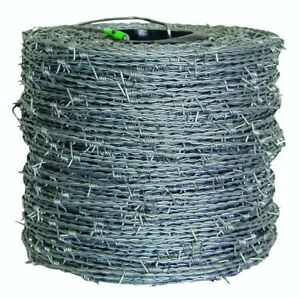 Barbed Wire Fencing Security Containment Fence 4 Point Barbs High Tensile Wire