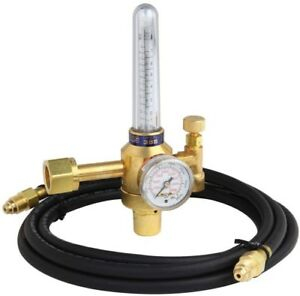 Flowmeter Regulator Kit Control Argon co2 W 10 ft Inert Gas Hose Ul Listed