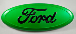 9 Lime Green Ford 04 14 F150 Front Grille Emblem Oval Decal Badge