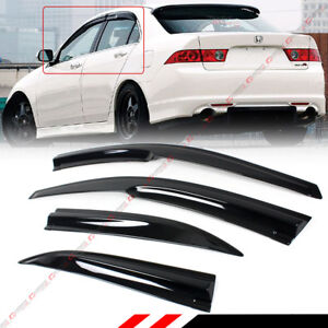 For 2004 2008 Acura Tsx Cl8 Euro r Jdm 3d Wavy Window Visor Sun Shade Rain Guard