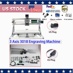 Wood Engraving Carving Pcb Milling Machine Router Engraver Set Axis Cnc 3018 Hot