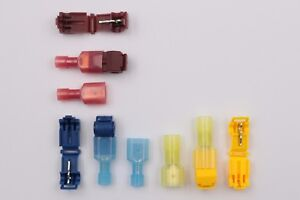 100set Quick Splice Lock Wire Terminal Connector Electrical Crimp Clip Car Cable