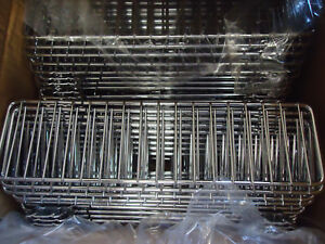 Case Of 40 Lozier Store Fixture Fsd313 Chrome 3 x13 Wire Bin Divider