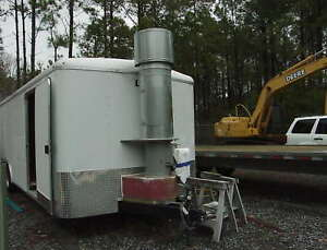 Modified Enclosed Trailer Down Draft Portable Has Been Used As A Paint Booth