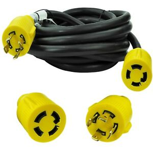 Leisure Cords Nema L14 30 4 Prong Locking 30 Amp Generator Extension Cord 25 Ft