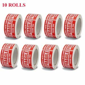 10 Roll 3x5 Fragile Stickers Handle With Care Thanking You Shipping 500 roll Red