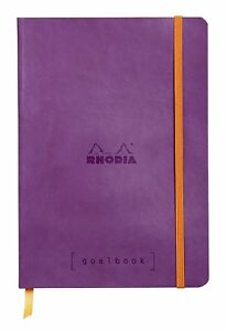 Rhodia Goal Book Dot Grid 5 75x8 25 Inch Purple Cover With Ivory Paper 224
