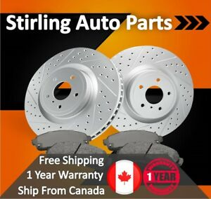 2009 2010 For Toyota Corolla Xrs Coated Drilled Slotted Rear Rotors And Pads