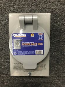 Reliance Controls 30 Amp Power Inlet Box pb30 free Shipping