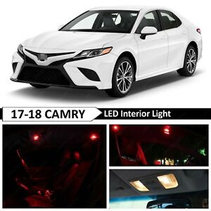 14x Red Interior Map Dome Led Lights Package Kit Fit 2017 2018 Toyota Camry