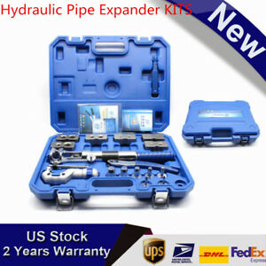 Hydraulic Flaring Tool Set Kit Pipe Fuel Line Expander Cutter With Case