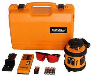 Rotary Level Tool Self leveling Essentials System Kit W Lcd Laser Detector New