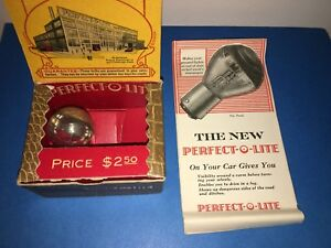 Nos Car Headlight Bulbs Perfect O Lite Antique Accessory Ford Plymouth 1920s 30s