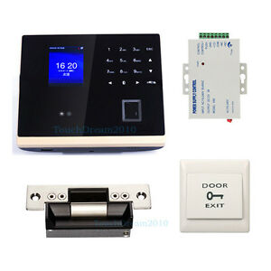 Biometric Fingerprint Facial Door Access Control System Time Attendance Kits