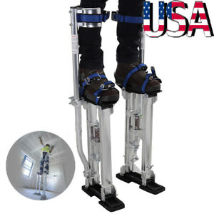 Professional Adjustable 24 40 Inch Drywall Plastering Stilts Painter Tool Silver