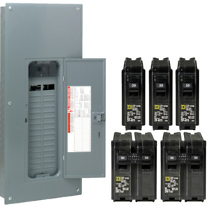 Square d 200 amp 30 space 60 circuit Indoor Main Breaker Box Panel Load Center