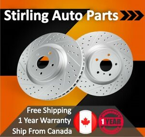2008 2009 For Honda Civic Dx ex lx hyb Coated Drilled Slotted Front Rotors