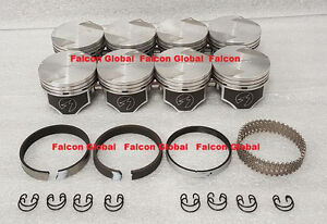 Ford 351c Speed Pro Hypereutectic Coated Skirt Flat Top Pistons Moly Rings 40