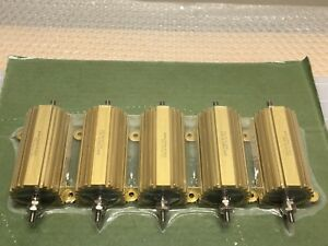 lot Of 5 Sealed Vishay Resistor Rh1003r010fj01 Rh 100 100 Watt 3 01 Ohm 1