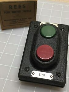 Rees 313 Start Stop Push Button Switch Now Old Stock