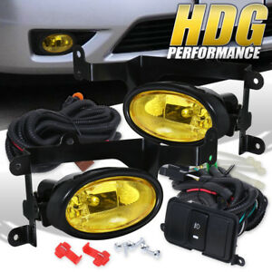 Jdm Yellow Bumper Fog Lights Switch Kit For 2006 2008 Honda Civic 2dr Coupe