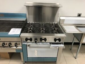 Garland Range X36 6r Natuarl Gas Oven 6 Burners Brand New