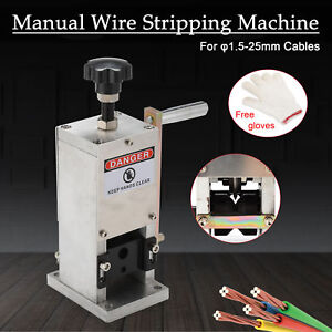 Wire Stripping Machine Portable Scrap Cable Stripper Manual New