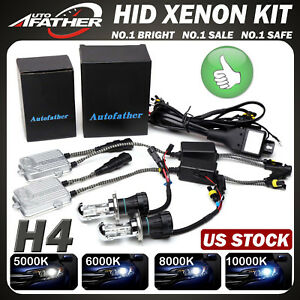 55w H4 9003 Hi low Beam Hid Bi xenon Beam Bulb Lamp Light Conversion Slim Kit