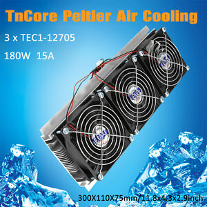 Trinuclear Thermoelectric Peltier Refrigeration Air Cooling System Kit Cooler Is