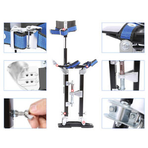 Professional Aluminum Alloy 24 40 Drywall For Painter Stilts Tool Silver Us