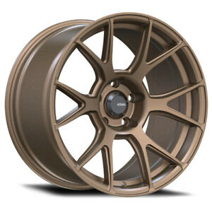 Konig Ampliform Rim 19x10 5x120 Offset 28 Bronze quantity Of 4