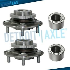 Front Rear Wheel Bearing Hub Kit For 2000 2001 2002 2003 Nissan Maxima
