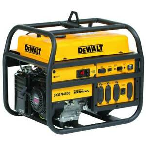 Dewalt Dxgn4500 4500 Watt Commercial Portable Jobsite Generator W Recoil Start