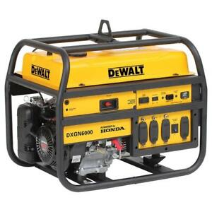 Dewalt Dxgn6000 6000 Watt Commercial Portable Gas Power Generator Recoil Start