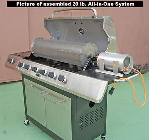New 20 Lb Capacity Outdoor Coffee Roaster System Drum rod grill 60rpm Motor