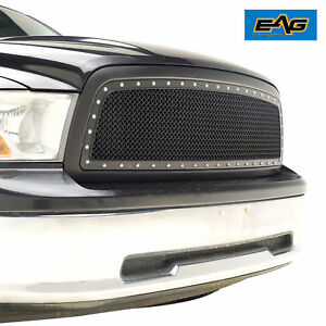 2009 2012 Dodge Ram 1500 Rivet Grille Mesh Replacement Grill Abs Black