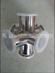 6 way Cross Nw kf 25 Flange Vacuum Fitting 304 Stainless Steel Kf 25 Nw 25