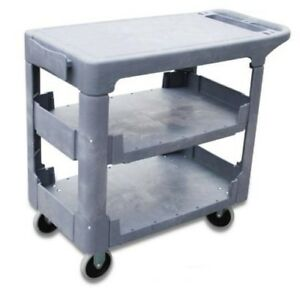 I lift Flat top 3 shelf Service Cart 550 Lb Capacity 44 X 26 X 32 Gray